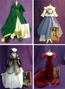 4 Scarlett Fashion Doll Ensembles