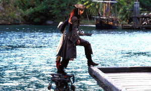 Jack Sparrow & Sinking Boat