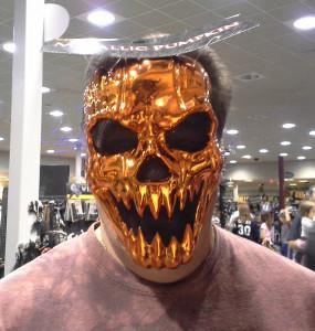 Metallic Pumpkin Mask © 2013 - 2015 Susan C. Fix All Rights Reserved ABlueSquash.com