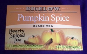 Bigelow Pumpkin Spice © 2013 - 2015 Susan C. Fix All Rights Reserved ABlueSquash.com