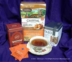 Fall Flavors Tea & Tisanes 11-13-15 © 2013 - 2015 Susan C. Fix All Rights Reserved ABlueSquash.com