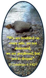 2 Corinthians 4:8 © 2013 - 2015 Susan C. Fix All Rights Reserved ABlueSquash.com