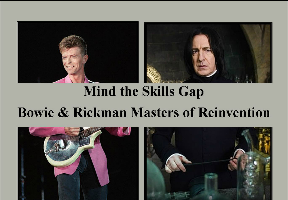 Mind the Skills Gap – Bowie & Rickman Masters of Reinvention