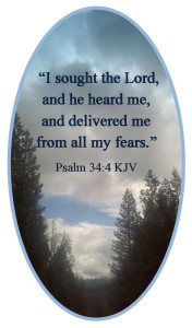 Psalm 34:4 KJV © 2013 - 2015 Susan C. Fix All Rights Reserved ABlueSquash.com