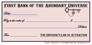 Abundance Check © 2013 - 2016 Susan C. Fix All Rights Reserved ABlueSquash.com