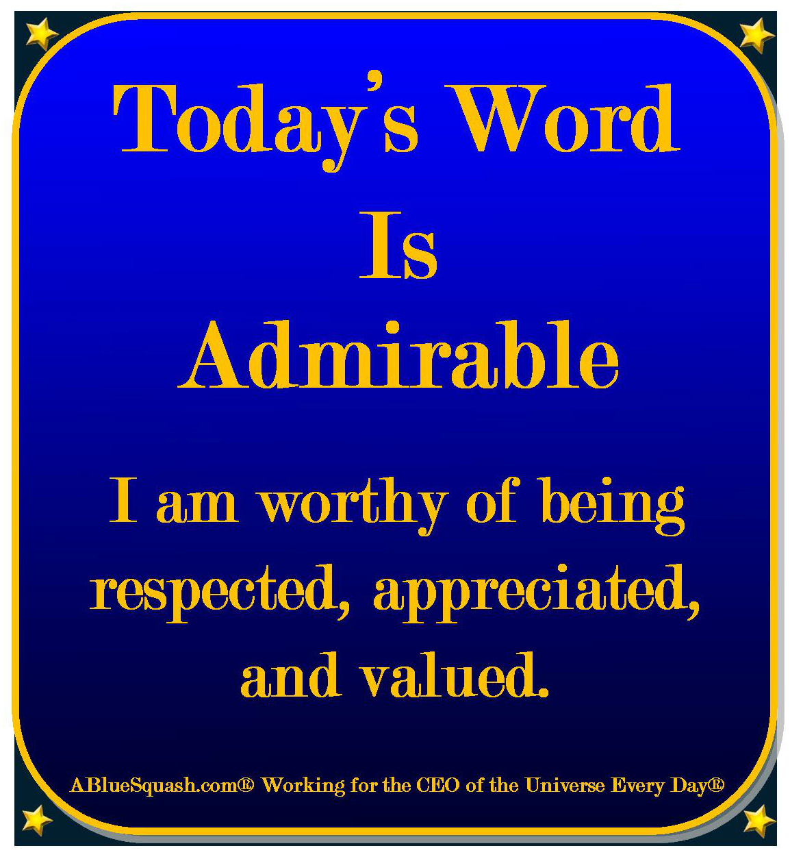 Today's Word Is . . .
