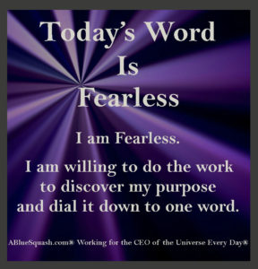 Fearless 7-8-16 © 2013 - 2016 Susan C. Fix All Rights Reserved ABlueSquash.com